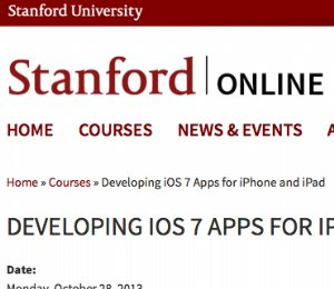 Stanford offers free course in developing iOS 7 apps for iPhone and iPad