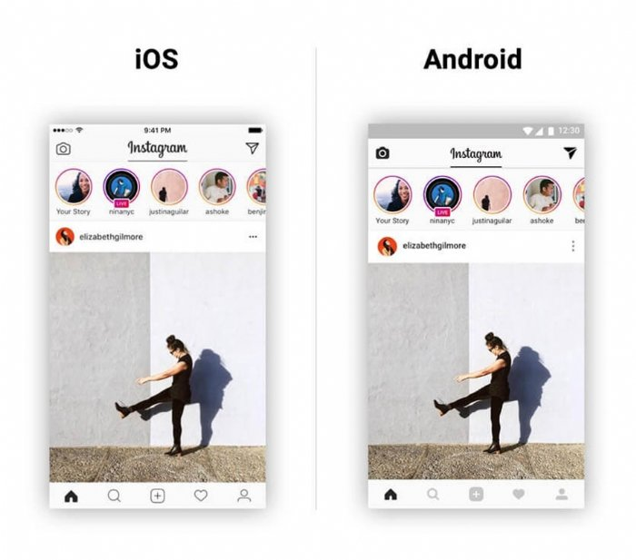 Instagram for iOS and android