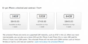Unlocked iphone 5&#039s for sale in the US Apple store