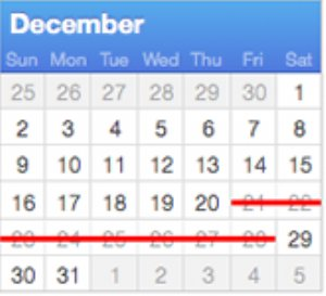 Apple holiday schedule for developers