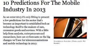 2013 predictions for mobile