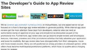 App Review Websites, a Developers Guide